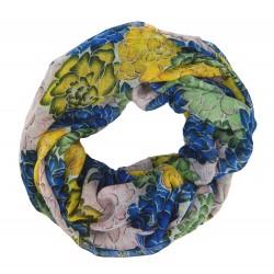 Bunter Blumen Loop blau grün gelb