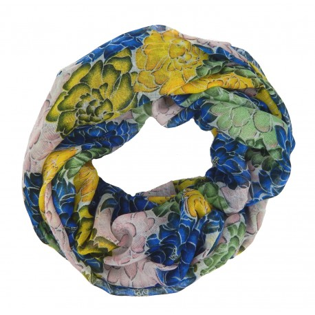 Loop blau grün gelb Blumen