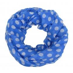 Breiter Loop blau weiß Punkte Polka Dots