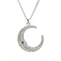 Halskette silber Mond