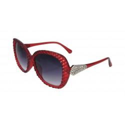 Sonnenbrille rot silber