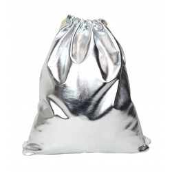 Gym bag silber metallic