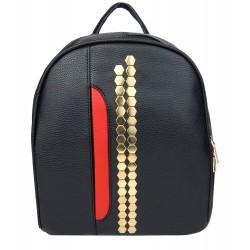 Rucksack schwarz rot