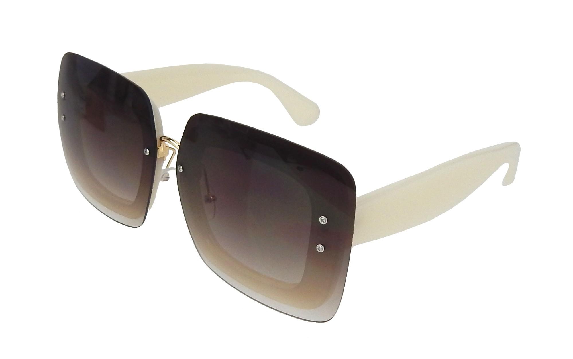 Sonnenbrille schwarz grau by Ella Jonte modisch quadratisch UV 400 new style