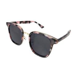 Sonnenbrille schwarz rosa