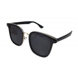 Sonnenbrille schwarz gold