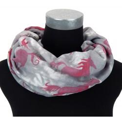 Loop grau pink Pferde