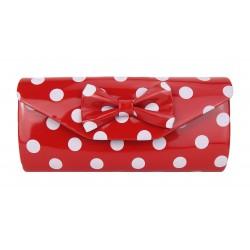 Rockabilly Tasche Handtasche Clutch rot weiß Punkte