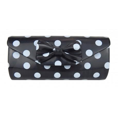 Tasche schwarz weiß rockabilly