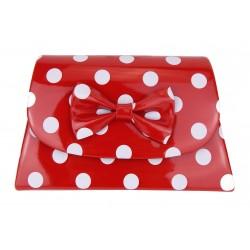 Rockabilly Tasche rot weiß Punkte Polka Dots