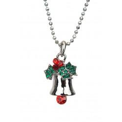 Kurze Halskette Weihnachten silber Glocke Glöckchen