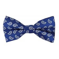 Herren Fliege blau Paisley