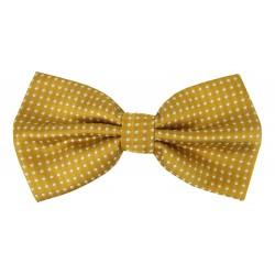Herren Fliege gelb weiß