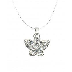 Kurze Halskette silber Schmetterling Kette