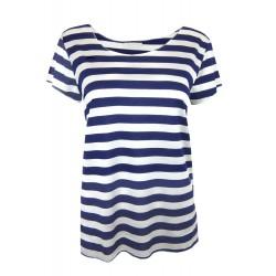 Shirt blau weiß