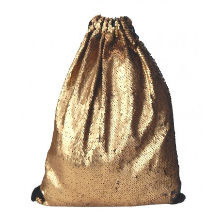 Gymbag Pailletten gold
