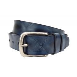 Ledergürtel blau schwarz