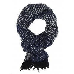 Damenschal schwarz blau