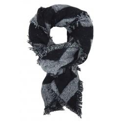 Damenschal schwarz grau