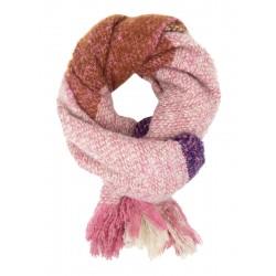 Damenschal lila rosa