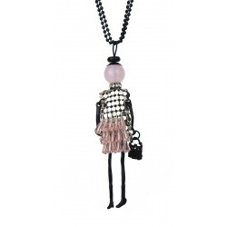 Halskette Puppe rosa