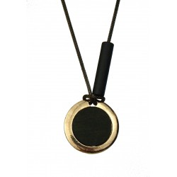 Halskette gold schwarz