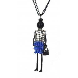 Halskette Püppchen blau