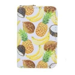 Geldbörse Ananas weiß