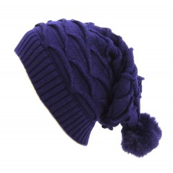 Long Beanie Strick Bommel 4 Farben Winter