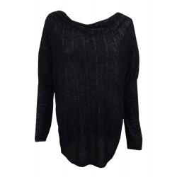 Shirt schwarz silber