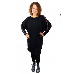 Kleid schwarz Glitzer