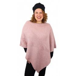 Poncho Stern grau oder rosa Cape Einheitsgröße