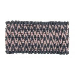 Stirnband grau rosa
