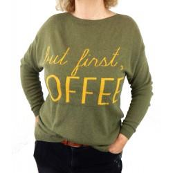 Pullover grün gelb
