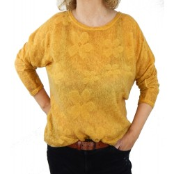 Pullover gelb Mohair