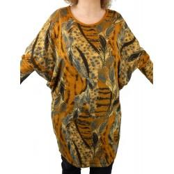 Kleid Tunika gelb