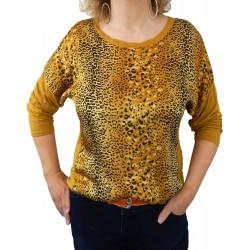 Blusen Shirt gelb Leo