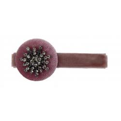 Haarspange violett Schleife