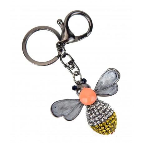 Taschenanhänger Biene Strass Schlüsselanhänger