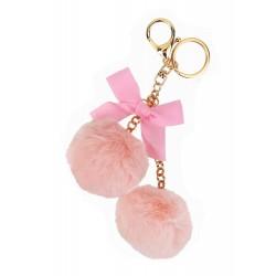 Taschenanhänger Pompons rosa Schlüsselanhänger