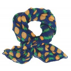 Schal Ananas blau orange grün