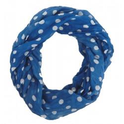 Mädchen Jungen weicher Loop blau weiss Punkte