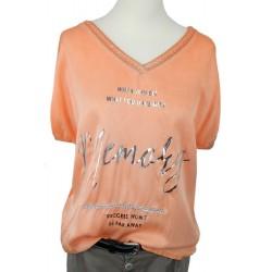 T-Shirt orange silber