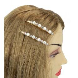 Haarklemmen silber weiß schwarz