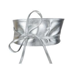 Bindegürtel Silber metallisch