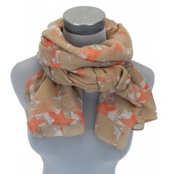 Schal beige nude orange Sterne