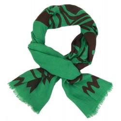 Schal grün braun Animal Print Motiv