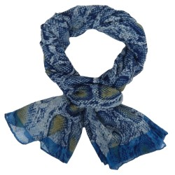 Animalprint Schal Schlange blau Snakeprint XXL