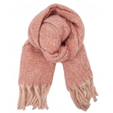 XXL Winterschal rosa nude lange Fransen