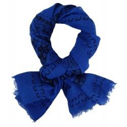Schal blau Animal Print Motiv